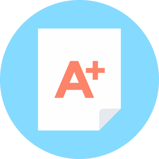 A Plus Test Icon
